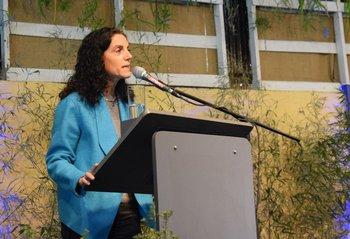La ministra de Economía y Finanzas habló sobre lechería en la Expo Prado.