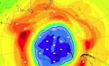 Situación del agujero de ozono en torno al Polo Sur en septiembre de 2021 - CAMS