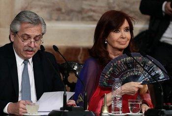 Alberto Fernández, presidente, y Cristina Fernández, vicepresidenta