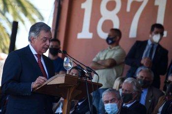 Mattos, durante su discurso en la Expo Prado; lo había hecho en 2005 y 2006 como presidente de ARU.