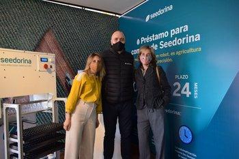 Virginia Molfese, Nicolás Franco y Carolina Olagüe
