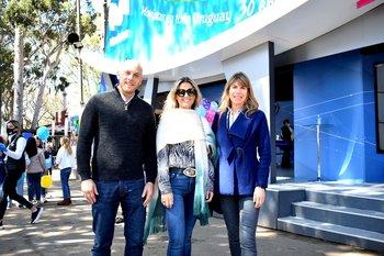 Martin Managau, Carolina Palma y Lucia Barbosa