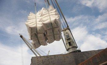 Exportaciones de arroz desde Montevideo.