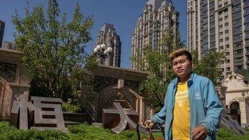 Un complejo residencial construido por Evergrande en Pekín