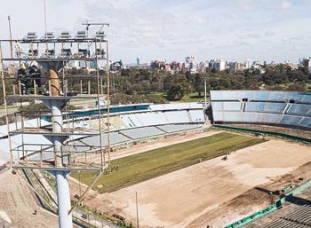 Obras en el Estadio Centenario para las finales de la Copa Sudamericana y Copa Libertadores 2021