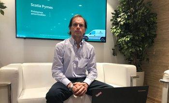 Mauro Besio Costanzo, integrante del equipo de Área Empresas Pymes y Rurales de Scotiabank.