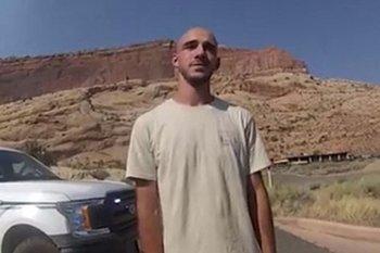 Una imagen de Laundrie en el video tomado por el Departamento de policía de la ciudad de Moab