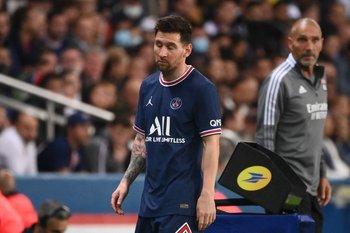 Messi fue reemplazado en su último partido con PSG
