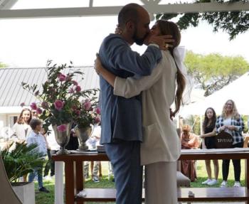 El casamiento de Abel Pintos y Mora Calabrese