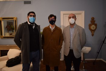 Emiliano Cometo, Maximiliano Alegre y Rodrigo Barcia