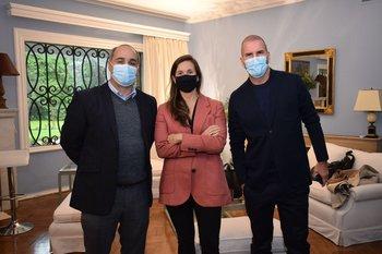 Santiago Guelfi, Ana Paula Aboal y Nicolas Milicevic