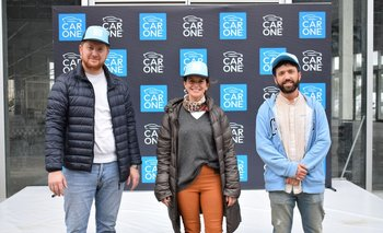 Pablo Barcelona, María Elisa Caviglione y Nicolás Morassi