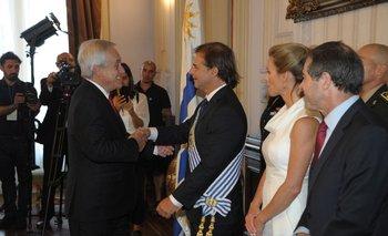 Lacalle Pou se encuentra reunido con Piñera