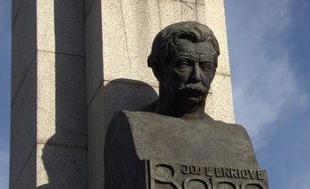 El monumento a Rodó en el parque que lleva su nombre