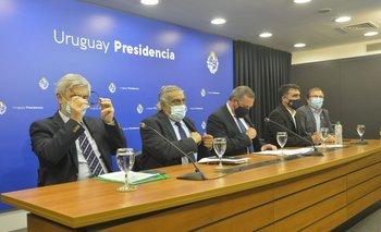 Los intendentes del litoral acompañaron al secretario Álvaro Delgado durante la conferencia