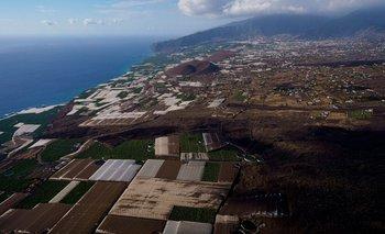 Zona del volcán en La Palma (Islas Canarias)