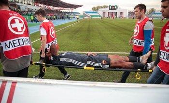 El momento de la lesión de Abel Hernández