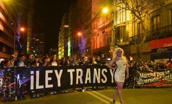 La marcha por la diversidad del año pasado tuvo como una de sus principales consignas el reclamo de la aprobación de la ley trans