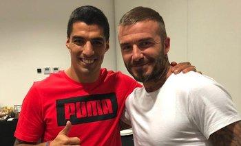 Suárez y Beckham en un encuentro