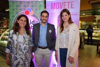 Raquel Sonsol, Sebastián González y Fabiana Goyeneche VA