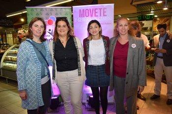Viviana Sologaistoa, Carolina Echartea, Mercedes Blanco y Cecilia Villaamil