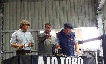 Enrique Albanell, José Pedro Aicardi, Diego Albanell en el remate de 2017