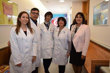 Ana Casuriaga, Gustavo Giachetto,Yelenne Ramirez, Susana Grunbaum y Elizabeth Saravia