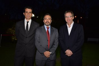 Diego Santi, Claudio Gazzán y Mark Teuten