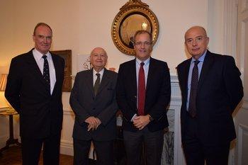 Richard Cowley, Daniel Supervielle, Andrew Cooper y Ernesto Sisto