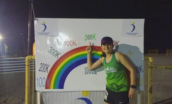 Carlita Dadomo batió el récord sudamericano de 6 días de ultramaratón