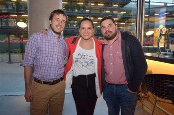 Rodrigo, Suárez, Victoria Basihnani y Sebastian Cardoso