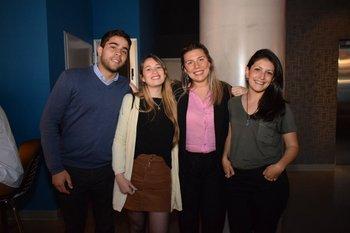 Santiago Deboli, Vanezza Benitez, Agustina Notaro y Fernánda De León