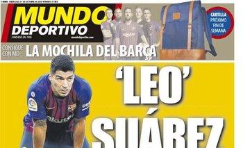 Suárez en la tapa de Mundo Deportivo