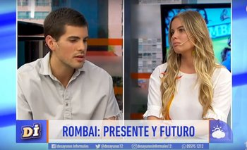 Fer Vázquez visitó este miércoles con su banda, Rombai, el programa Desayunos informales (canal 12), donde trabaja Camila Rajchman