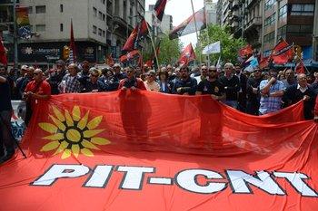 Movilización del PIT-CNT (Foto archivo)