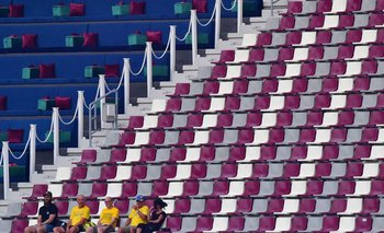 Pocos espectadores en las tribunas del Mundial de atletismo de Catar