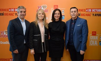 Ricardo Méndez, Sandra Marcos, Paula Espasandin y Fabrizio Patritti