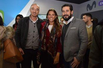 Schubert Ramos, Cecilia Zunino y Andrés Albini
