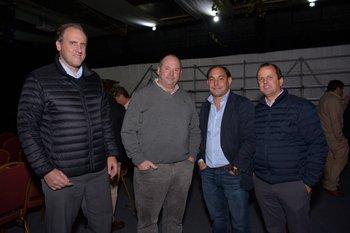 Jorge Gard, Milton  Duhalde, Gianni Bordoli y Matias Ferres