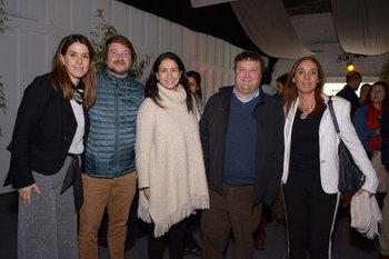 Florencia Duarte, Andrés Bódega, Paula Azadian, Guzman Castro y Beatriz Camelo