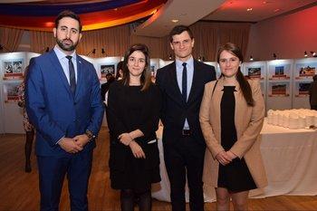 Federico Carreño, Sophia Grilli, Juan Manuel Ciannda y Sophia Zeballos