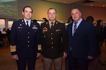 Hugo Marenco, Claudio Feóla y Daniel Losano
