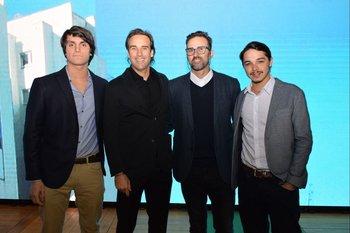 Gian Clerici, Alejandro Curcio, Juan Ciapessoni y Santiago Tarallo