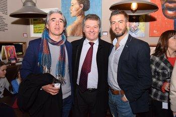 Carlos Arrue, Fernando Montemuño y Pablo Gatto