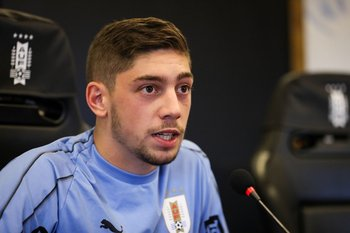 Federico Valverde en la conferencia de prensa de este martes