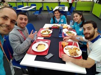 El equipo uruguayo en Stuttgart
