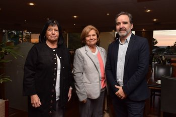 Mariana Varela, Elena Ward y Juan Manuel Zorrilla