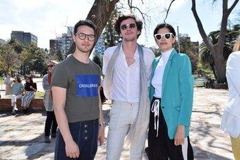 Francisco Fros, Gastón Strauch y Noelia Porley