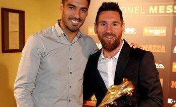 La foto que subió Luis Suárez junto a su amigo Lionel Messi
