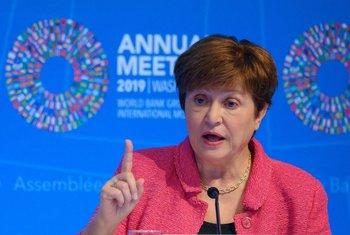 El liderazgo de Kristalina Georgieva al frente del FMI pareció debilitado este viernes.